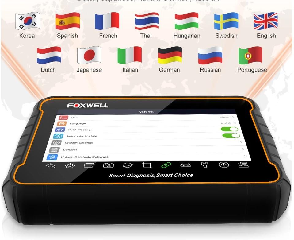 Foxwell outil diagnostic multilangue