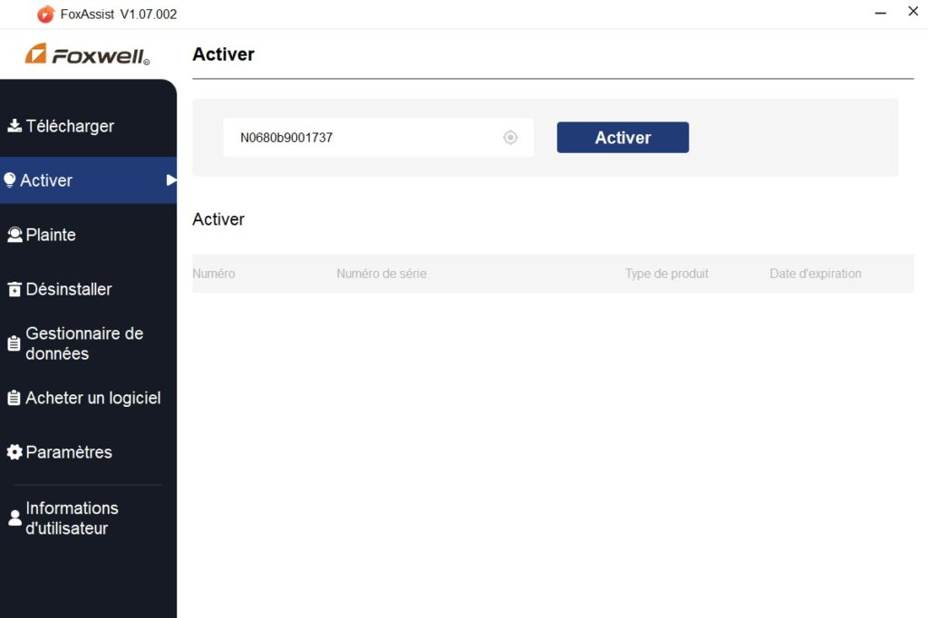 FoxAssist invitation à l'activation